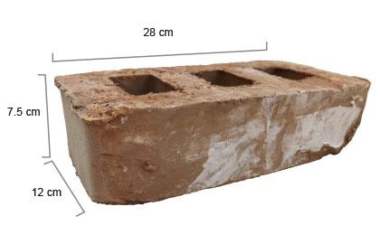 Ladrillo rustico Mexicano 28cm