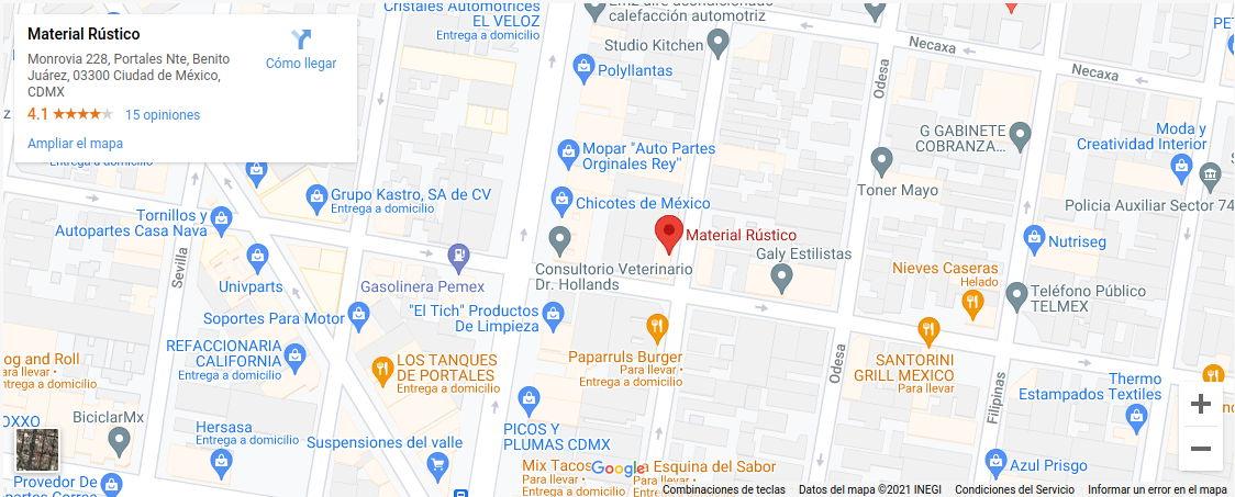 Google Maps Material Rustico